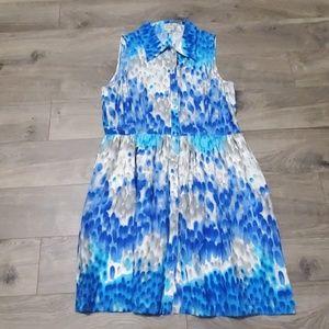Daniel Cremieux sleeveless collared dress size 14